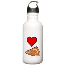 I heart Pizza slice wh Water Bottle