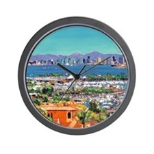 View of San Diego Bay by Riccoboni9x12 Wall Clock