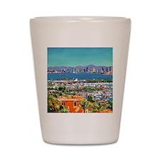 View of San Diego Bay by Riccoboni9x12 Shot Glass