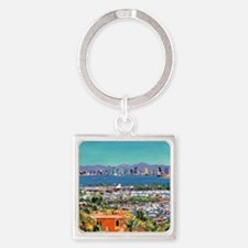 View of San Diego Bay by Riccoboni Square Keychain