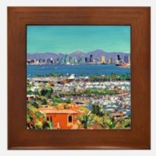 View of San Diego Bay by Riccoboni9x12 Framed Tile