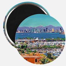 View of San Diego Bay by Riccoboni9x12 Magnet