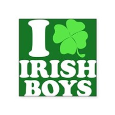 "Irish Boys Btn Square Sticker 3"" x 3"""