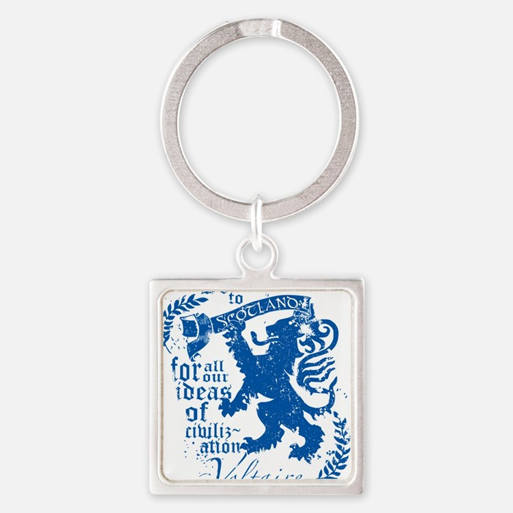 Voltaire Square Keychain