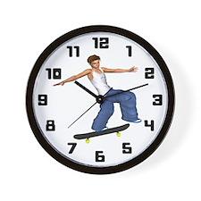 Skateboarders Wall Clock