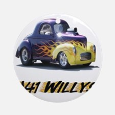 41-Willys Round Ornament