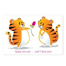 two tigers roseLove Postcards (Package of 8)
