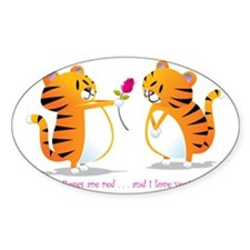 two tigers roseLove Decal