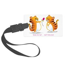 two tigers roseLove Luggage Tag