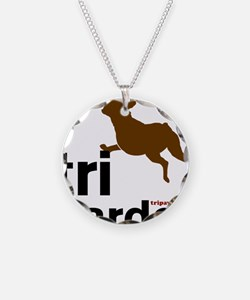 Tri Harder Three Legged Boxe Necklace