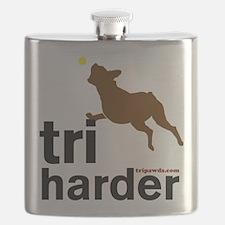 Tri Harder Three Legged Boxer Flask