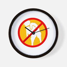 AMBF Tripawds Rule Black Wall Clock