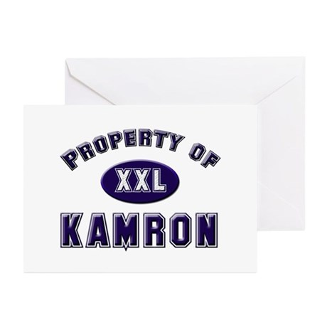 Property of kamron Greeting Cards (Pk of 10)