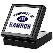 Property of kamron Keepsake Box