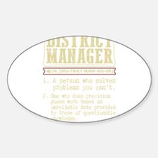 District Manager Funny Dictionary Term Decal