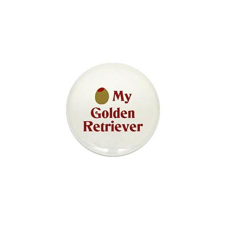 Olive My Golden Retriever Mini Button (10 pack)