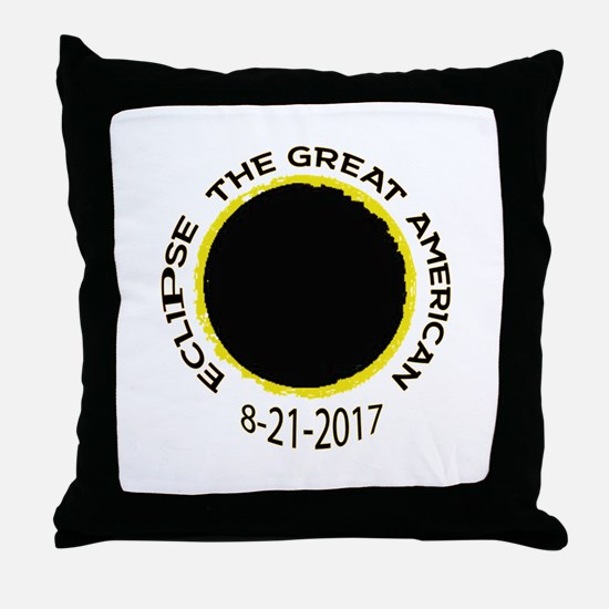 The Great American Eclipse Throw Pillow