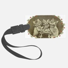 Three Little Kittens Oval Luggage Tag