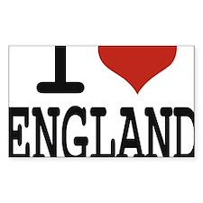 I LOVE ENGLAND Decal