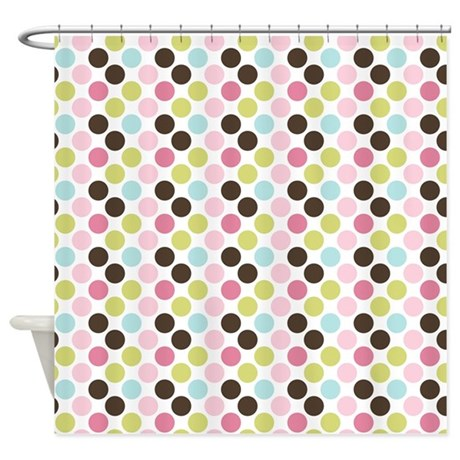 Multi Colored Dots Shower Curtain By Thechicboutique85