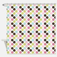 Multi-Colored Dots Shower Curtain