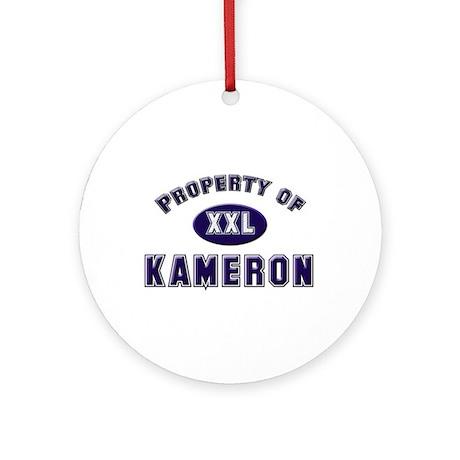 Property of kameron Ornament (Round)