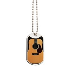 acoustic-guitar-framed panel print copy Dog Tags