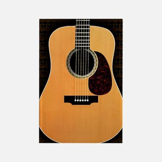 acoustic-guitar-framed panel prin Rectangle Magnet