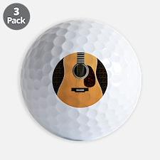 acoustic-guitar-framed panel print copy Golf Ball