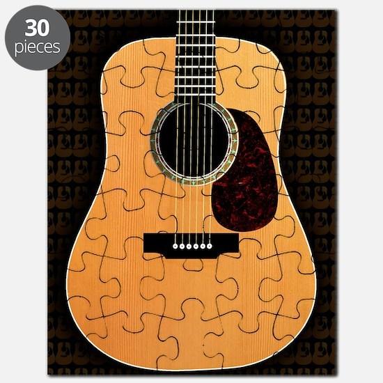 acoustic-guitar-framed panel print copy Puzzle