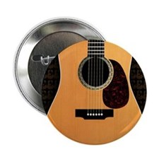 "acoustic-guitar-framed panel print co 2.25"" Button"