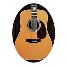 acoustic-guitar-framed panel print c Oval Ornament