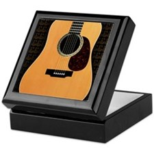 acoustic-guitar-framed panel print co Keepsake Box