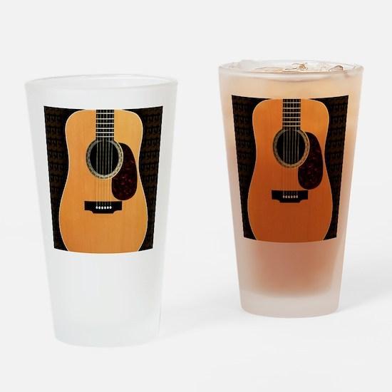 acoustic-guitar-framed panel print  Drinking Glass