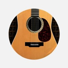 "acoustic-guitar-framed panel print cop 3.5"" Button"