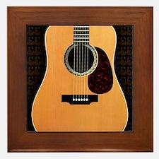 acoustic-guitar-framed panel print cop Framed Tile
