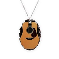 acoustic-guitar-framed panel p Necklace Oval Charm