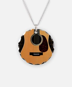 acoustic-guitar-framed panel Necklace