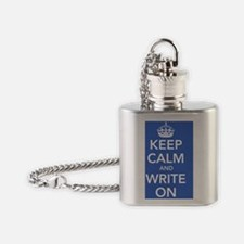 writeonposterblue Flask Necklace