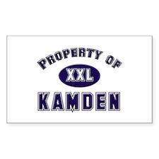Property of kamden Rectangle Decal