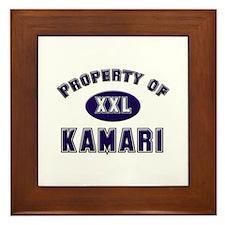 Property of kamari Framed Tile