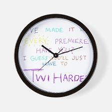 TwiHarder Wall Clock