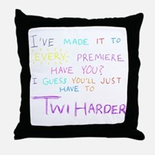 TwiHarder Throw Pillow