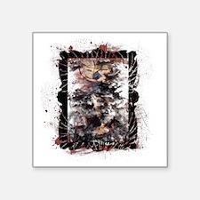 """Defeat the Devil (white) Square Sticker 3"""" x 3"""""""