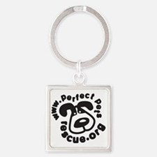 blackonwhite tshirt 10by10 Square Keychain