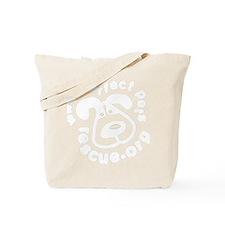 white on black tshirt 10by10 Tote Bag
