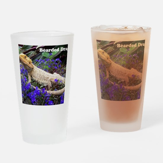 bearded dragon merch Drinking Glass