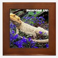 bearded dragon merch Framed Tile