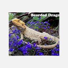 bearded dragon merch Throw Blanket