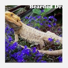 bearded dragon merch Tile Coaster